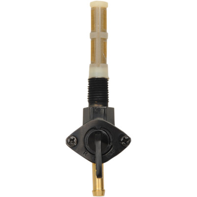 """Drag Specialties Gloss Black 1/4"""" NPT Petcock - Straight Fuel Outlet"""