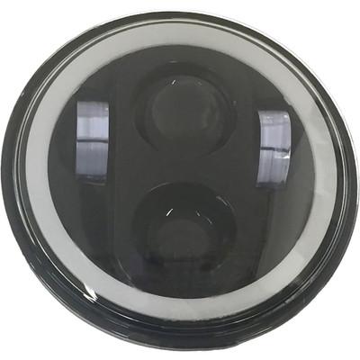 """Pathfinder 5-3/4"""" LED Headlight with Full Halo - Black"""