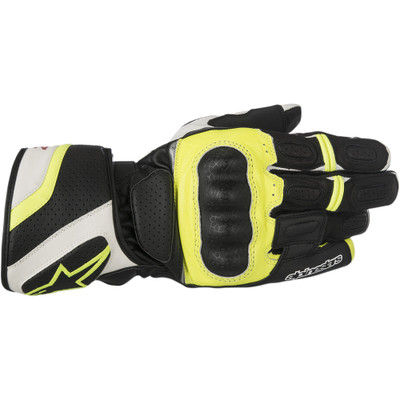 Alpinestars SP-Z Drystar Gloves - Black/White/Yellow