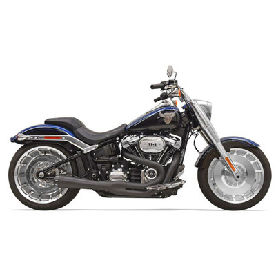Bassani Road Rage Exhaust for 2018 Harley Softail Breakout and Fat Boy - Black