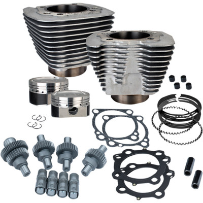 S&S Hooligan Kit 883 to 1200 Big Bore for 2000-2018 Harley Sportster - Silver