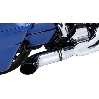 Python Rayzer 2-Into-1 Exhaust for 2017-2018 Harley Touring - Chrome