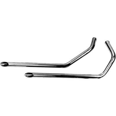 "Paughco 1-3/4"" Exhaust Drag Pipes for 1957-1985 Harley Ironhead Sportster - Chrome"