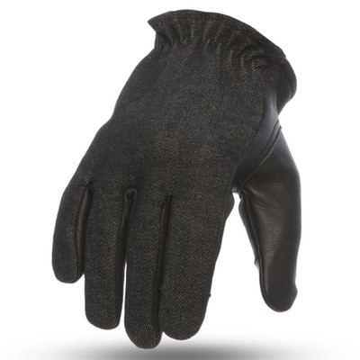 First Mfg. 2-Tone Roper Gloves - Black/Denim