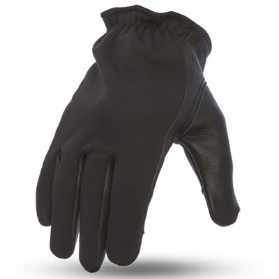 First Mfg. 2-Tone Roper Gloves - Black/Neoprene