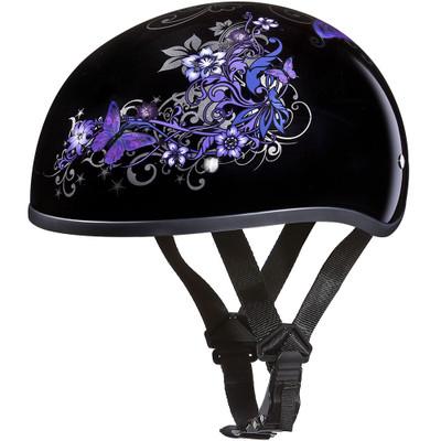 Daytona DOT Skull Helmet - Butterfly