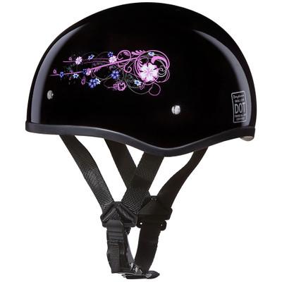 Daytona DOT Skull Helmet - Flowers