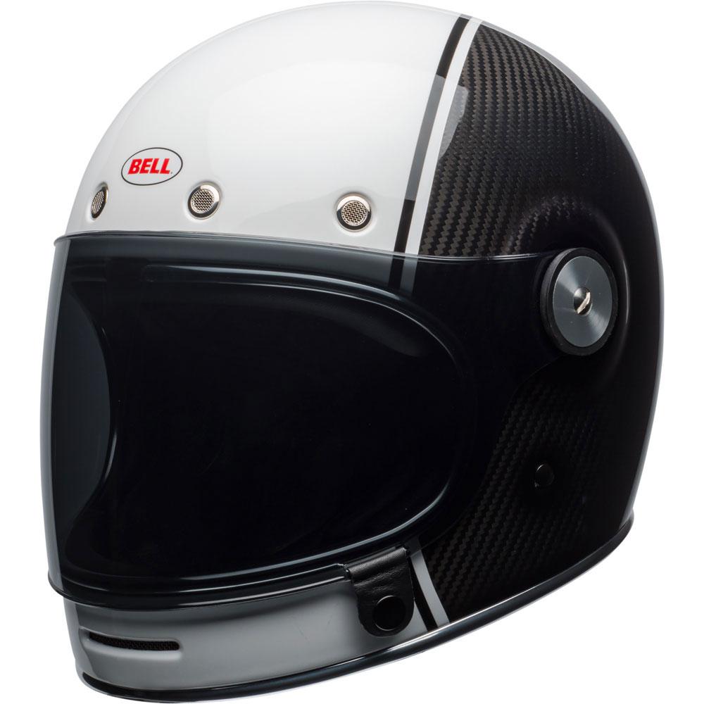 Bell Bullitt Gloss White Carbon Pierce Helmet Get Lowered Cycles