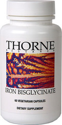 Thorne Research Iron Bisglycinate 60 Veggie Caps