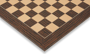 "Tiger Ebony & Maple Deluxe Chess Board - 2.375"" Squares"