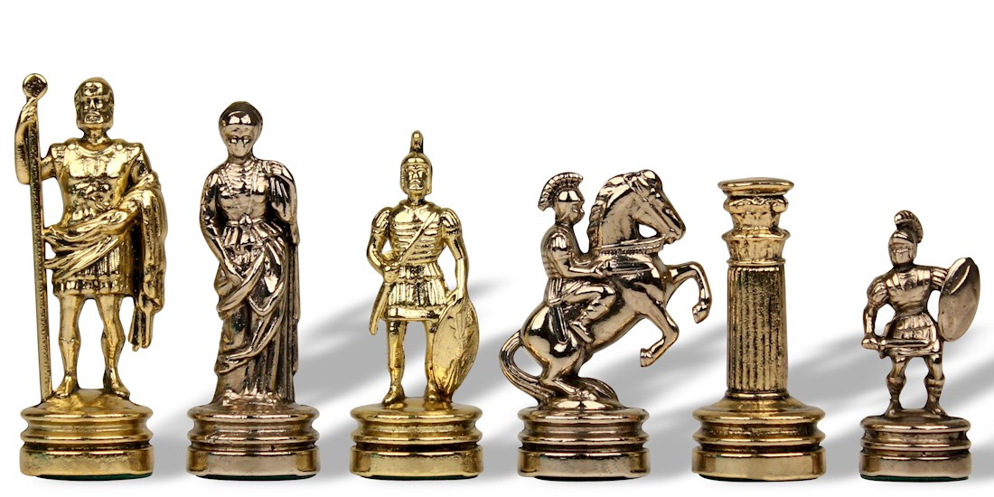 Steel Chess Set chess pieces - metal chess pieces - the chess store
