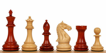 "Fierce Knight Staunton Chess Set in African Padauk & Boxwood - 3"" King"