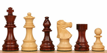 "French Lardy Staunton Chess Set in Rosewood & Boxwood - 3.75"" King"