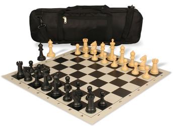 Guardian Carry-All Plastic Chess Set Black & Camel Pieces - Black