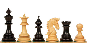 "Hadrian Staunton Chess Set in Ebony & Boxwood - 4.4"" King"