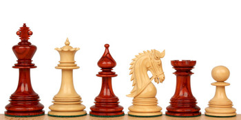 "Hadrian Staunton Chess Set in African Padauk & Boxwood - 4.4"" King"
