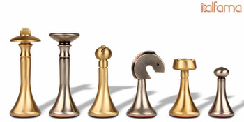 Modern Brass Chess Set