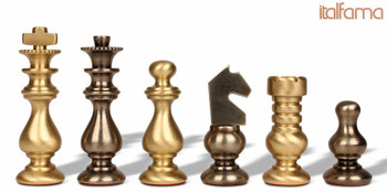 Silhouette Knight Staunton Brass Chess Set