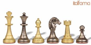 Mini Staunton Brass Chess Set