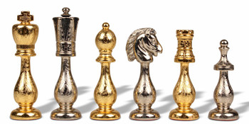 Arabesque Gold & Silver Plated Staunton Chess Set