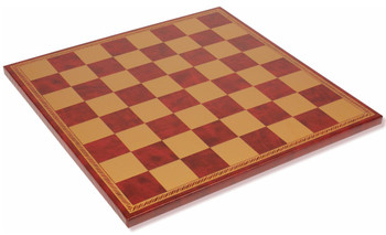"Italfama Red & Gold Leatherette Chess Board - 1.75"" Squares"