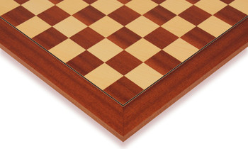 "Mahogany & Maple Deluxe Chess Board - 2.125"" Squares"