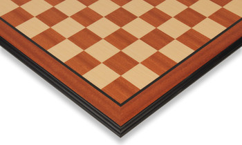 "Mahogany & Maple Molded Edge Chess Board - 2"" Squares"
