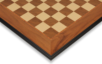 "Walnut & Maple Molded Edge Chess Board - 1.5"" Squares"