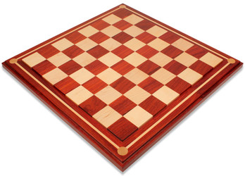 "Mission Craft African Padauk (Blood Rosewood) & Maple Solid Wood Chess Board - 2.25"" Squares"