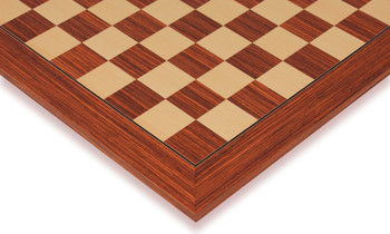"Rosewood & Maple Deluxe Chess Board - 2.125"" Squares"