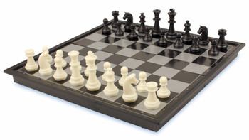 """Chess & Checkers Folding Magnetic Travel Set - 9.75"""""""