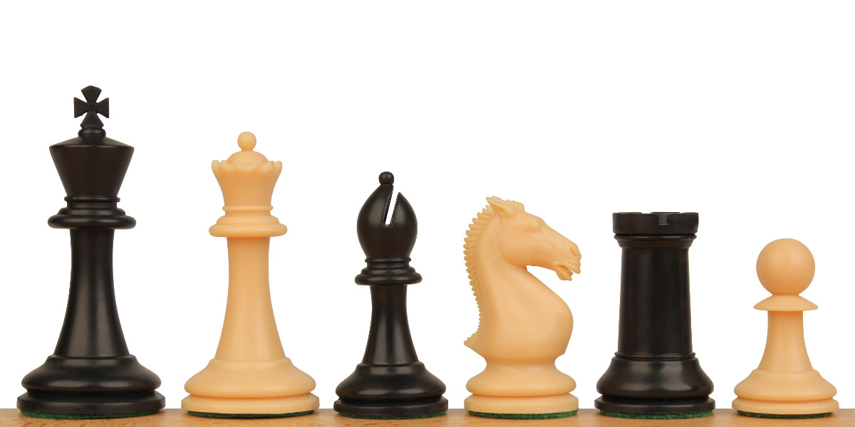 Protourney Plastic Chess Set Black Amp Camel Pieces 3 75