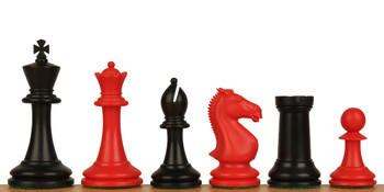 "ProTourney Plastic Chess Set Black & Red Pieces - 3.75"" King"