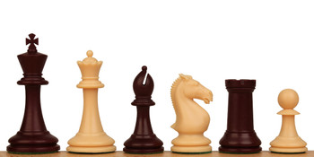 "ProTourney Plastic Chess Set Burgundy & Camel Pieces - 3.75"" King"