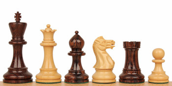 """Parker Staunton Chess Set in Rosewood & Boxwood - 3.25"""" King"""