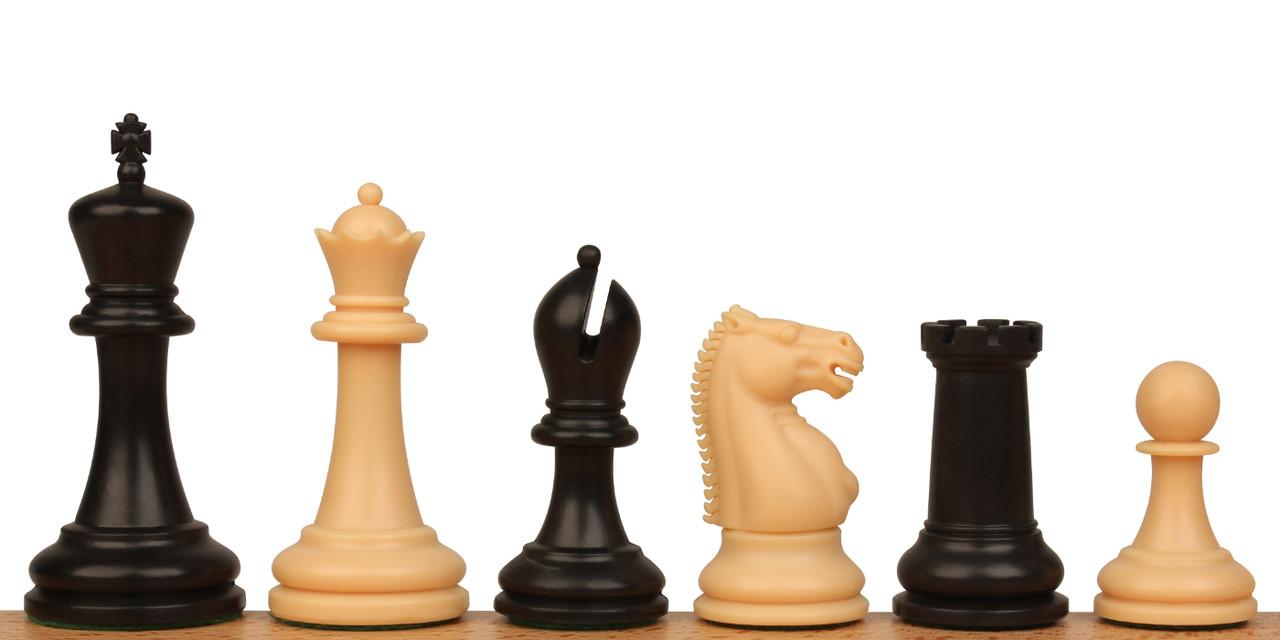 Zukert Plastic Chess Set Black Camel Pieces King