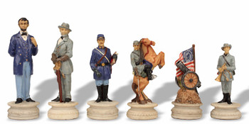 Large Civil War Theme Chess Set