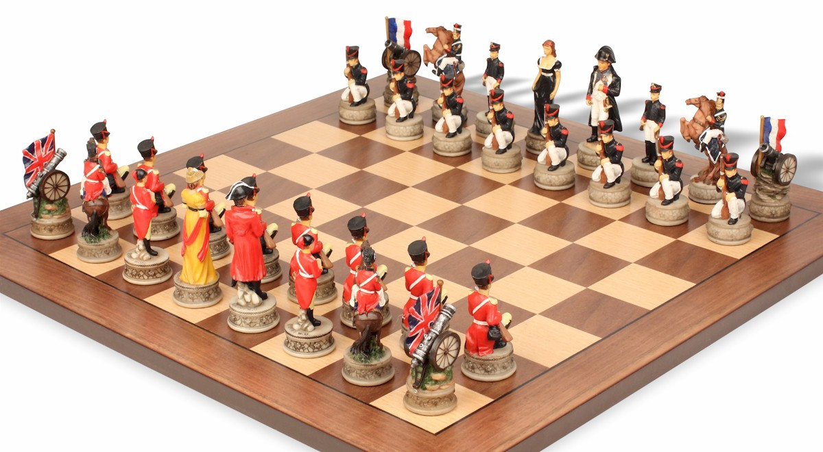 ... Image 3 ...  sc 1 st  The Chess Store & Battle of Waterloo Theme Chess Set Package - The Chess Store