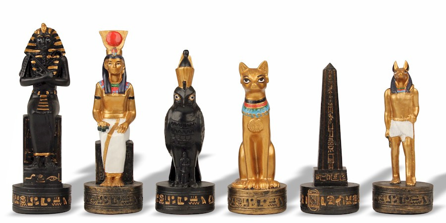 Excellent Egyptian II Theme Chess Set - The Chess Store EJ25