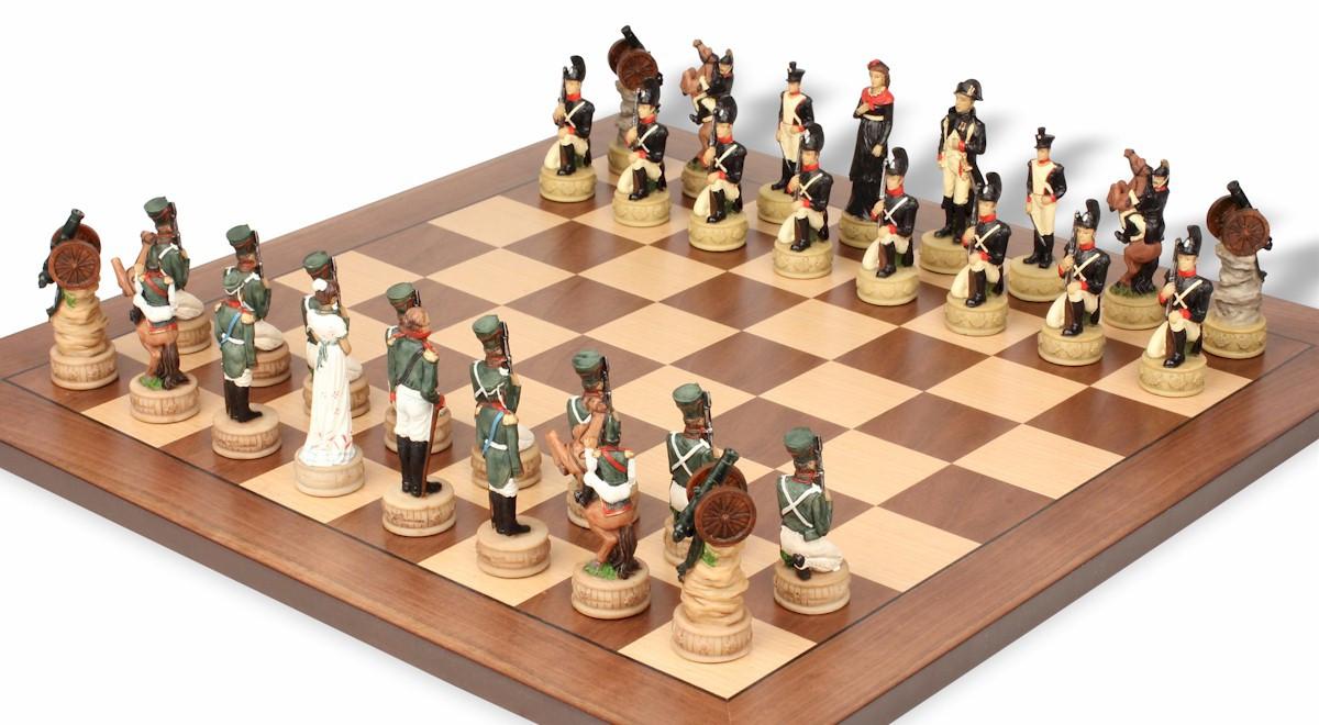 Decorative Chess Sets Napoleon Vs Russia Theme Chess Set  The Chess Store