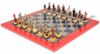 Civil War II Theme Chess Set Deluxe Package