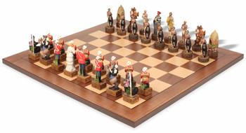 British & Zulu Theme Chess Set Package