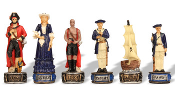 Pirates & Royal Navy Theme Chess Set