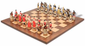 American Revolutionary War II Theme Chess Set Package
