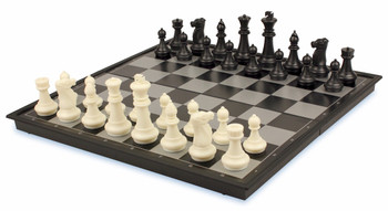 Chess & Checkers Folding Magnetic Travel Set - 14""