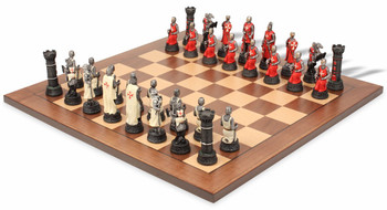 Crusade Knights Theme Chess Set Package