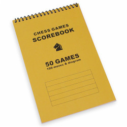 50 Games Gold Chess Score Book