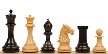 "Saint John Staunton Chess Set in Ebony & Boxwood - 4.4"" King"