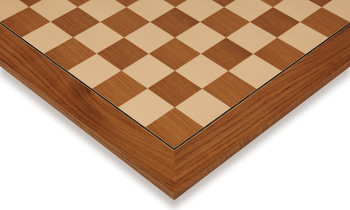 """Teak & Maple Deluxe Chess Board - 2.125"""" Squares"""