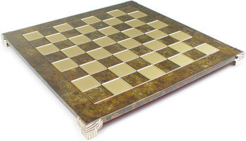 "Brass & Brown Chess Board - 2.125"" Squares"